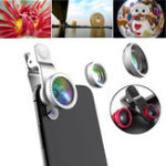New Universal 3 in1 HD 0.65X Wide Angle 10X Macro Fisheye Camera Lens for Xiaomi Samsung iPhone