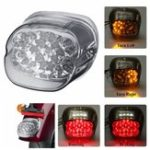 New Smoke Lens LED Tail Brake Turn Signal Light Motorcycle For Harley Dyna Fat Boy Sportster Road King