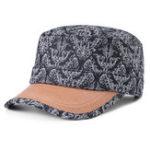 New Women Men Cotton Print Sunscreen Flat Hats