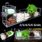 New 2/3/4/5/6 Grids Aquarium Fish Tank Pond External Filter Box Acrylic Set