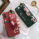 New Fashion Flower Pattern Strap Ring Grip Stand Protective Case For iPhone XR/XS/XS Max/X/8/8 Plus/7/7 Plus/6s/6s Plus/6/6 Plus