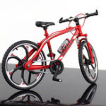 New 1:10 Mini Bike Model Openable Folding Mountain Bicycle Bend Racing Alloy Model Toys