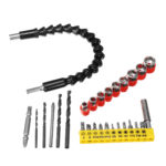 New 28pcs In 1 Flexible Shaft with Screwdriver Bit and Drill Bits Kit or Makita Charging Convertor