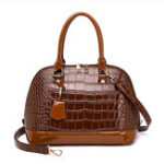 New Women Crocodile Pattern Handbag