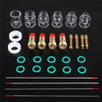 New 30Pcs TIG Welding Accessories Torch Stubby Gas Len Glass Cup for WP-9/20/25