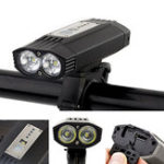 New XANES® DL23 1200LM Bike Light 4000mAh USB Rechargeable Waterproof Bike Front Light 3 Modes Night Riding Warning Light