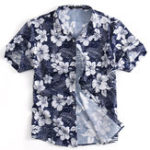 New Men Floral Printed Short Sleeve Shirts