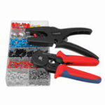New Professional Crimper Plier Wire Cutter Stripper 120Pcs Electrical Crimp Terminals