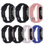 New Bakeey Double Color TPU Soft Watch Band Replacement Watch Strap for Xiaomi mi band 3