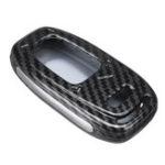 New ABS Car Key Case Cover Bag Carbon Fiber Black for Audi A4L A5 A6L Q5 Q7 S6 A7 A8L