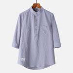 New Mens Vintage Chinese Style Cotton Breathable Loose Shirts To