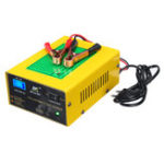 New 12V/24V 15A Auto Lead Acid Battery Charger Intelligent Pulse Repair LCD For Car Motorcycle