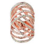 New JASSY Elegant Rose Gold Finger Ring
