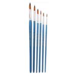 New Zhuting 6001R 6Pcs Round Front Nylon Practical Writing Brush