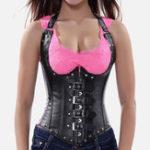 New Women's Steel Bone Body Corset With Underwear Thong