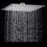 New 15x15cm 6 Inch Square Water-saving Pressurized Top Spray Shower Head 201 Stainless Steel