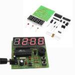 New 3pcs DIY Multi Function Four Bit Digital Clock MCU Clock Kit