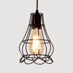 New Retro E27 Iron Pendant Cage Light for Bar Coffee Shop Nordic Style Indoor Metal Hanging Lamp Decor