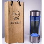 New 450ml Portable H Rich Water Maker Ionizer Generator Water Cup Bottle USB Filter