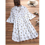 New Plus Size Cartoon Cat Print Short Sleeve Irregular Blouse