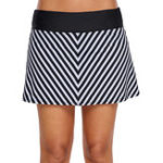 New Striped Thin Trousers Skirt Swimming Trunks