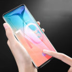 New Bakeey Support Fingerprint Sensor Unlock 3D Curved Edge Tempered Glass Screen Protector For Samsung Galaxy S10/Galaxy S10 Plus