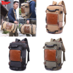 New Large Capacity Khaki Function Travel Canvas Backpack Male Waterproof Computer Causal Men Backpacks Duffel Shoulder Bag