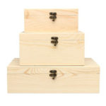 New Wooden Vintage Treasure Chest Wood Jewelry Storage Box Case Organiser Ring