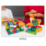 New Building Blocks Assembled Car Slide Blocks Race Run Slide Kids Early Educational Toys
