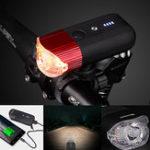 New Deemount BCL223 800LM Smart Sensor Bicycle Front Light Cycling LED Headlight W/ Yellow Tone Warning for Daytime Riding 4000mAH Lantern
