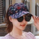 New Women Summer Chiffon Ponytail Empty Top Baseball Cap