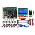 New MKS GEN L Mainboard+Mini MOS Module+LCD 12864 Display+6Pcs Limit Swich+5Pcs A4988 Driver Kit 3D Printer Parts