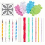 New 15pcs Mandala Dotting Painting Rocks Drawing Pen Stencil Paint Tray Tools Kit DIY