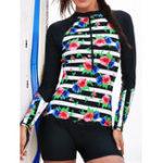 New Long Sleeve Sun Protection Bottom Surf Swimwear