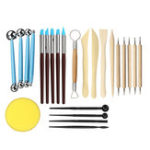 New 24pcs Ball Stylus Dotting Tools Clay Pottery Modeling Carving Rock Painting Kit