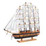 New Handmade Wooden Sailing Boats Model Assembly Nautical Ship Schooner Boat w/ Light Decorations Gift