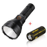 New Cool White Astrolux FT03 SST40-W 2400lm 875m Rechargeable Flashlight + 1pcs Basen 4500mah 3.7V 60A Unprotect 26650 Battery