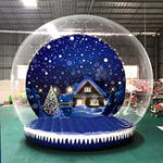 New 3m 350W / 500W High Inflatable House Outdoor Snow Globe Transparent Bubble Tent + Air Pump