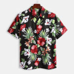 New Mens Summer Cotton Floral Printing Short Sleeve Casual Shirts