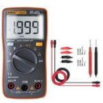 New ANENG AN8004 Orange Digital 2000 Counts Auto Range Multimeter Backlight AC/DC Ammeter Voltmeter Resistance Frequency Capacitance Meter + Test Lead Set