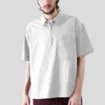 New Mens 100% Cotton Practical Pocket Half Zipper T-Shirts