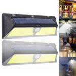 New 166 COB Solar Power PIR Motion Sensor Garden Security Lamp Waterproof Patio Light