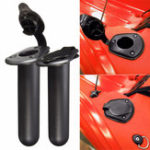 New 2Pcs Fishing Rod Pole Flush Mount Stand Bracket Holder Rest for Kayak Canoe Boat