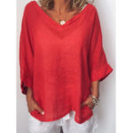 New Women Casual 3/4 Sleeves Blouse