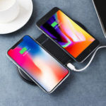New Qi Wireless Charger Fast Charging Dual Charging Pad Phone Holder For iPhone Samsung Huawei Xiaomi