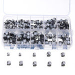 New 200pcs 10 Values SMD Electrolytic Capacitor Assorted Kit 10V-50V 1uF-470uF With Storage Box
