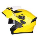 New JIEKAI JK902 Double Lens Flip Up Motorcycle Helmet Full Face Motorbike Solid Color Motocross Scooter Dual Visor Helmets
