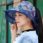 New Women Foldable Double-sided Wear Summer Sun Empty Top Hat