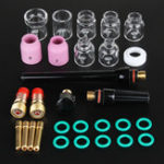 New 29Pcs TIG Welding Accessories Torch Stubby Gas Slot Glass Cup for WP-17/18/26