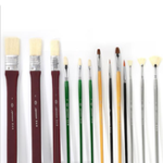 New Brush Mix Set Professional Proportion Wolf Chrome Plated Wood Rod Watercolor Paint Brush Set